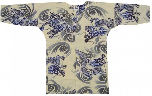 注染鯉口シャツ