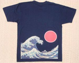 Tシャツ波富士