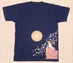 Tシャツ美人画