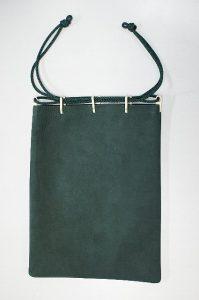 牛革ヌバック信玄袋 緑