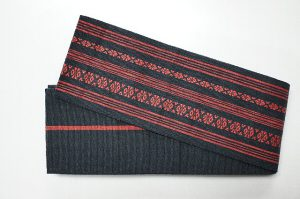織角帯黒赤